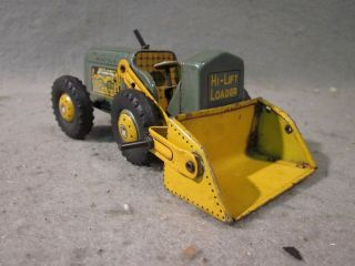 VINTAGE MARX Linemar Friction Hi Lift Loader Truck Tin Toy