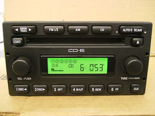 FORD ESCAPE CD 6 DISC CHANGER RADIO F150 5L8T 18C815 ED 2005 2006