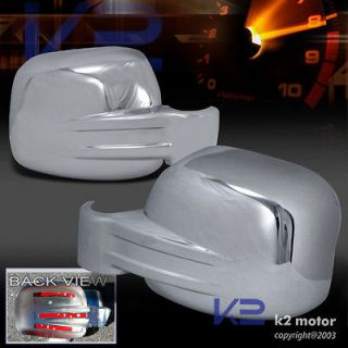 JEEP LIBERTY SHINNY CHROME SIDE MIRROR COVERS PAIR (Fits Jeep)