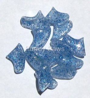 BLUE GLITTER Soft Nail Caps For Cat Claws * 4 Sizes to choose from
