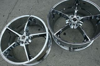 RUFF RACING 948 22 CHROME RIMS WHEELS CHRYSLER 300 300C V6 / 22 X 9.0