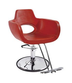 New Red Modern Hydraulic Barber Chair Styling Salon Beauty Spa