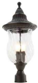 Hampton Bay 877005 3 Light Outdoor Post Lantern Model # 002 33022P ORB