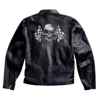 Harley Davidson HDMC Vintage Leather Skull Jacket 97035 11vm SALERRP