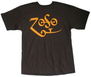 Jimmy Page   Yellow Zoso Logo T Shirt
