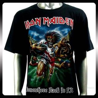 Iron Maiden Heavy Metal Rock Punk T shirt Sz XL Biker Rider Ir38