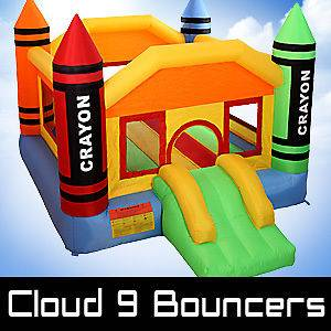 Mini Crayon Bounce House Inflatable Bouncer Moonwalk Jumper Jump