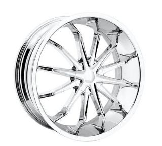 24 Chrome REV XO Wheels GMC Chevy Ford Truck SUV f 150 Silverado 6