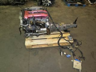 95 00 JDM NISSAN SILVIA SR20DET S14 KOUKI ENGINE 5 SPEED TOMEI HEADERS