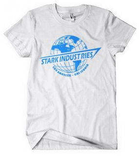 IRON MAN T SHIRT AVENGERS ASSEMBLE STARK INDUSTRIES MARVEL COMIC DVD