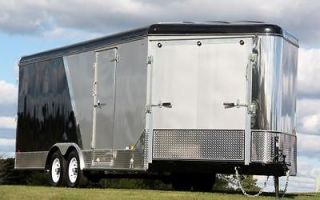 ENCLOSED CAR SNOW/ATV/MOTORCYCLE TRAILER W/ FRONT RAMP DOOR, SCREWLESS