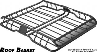 DELUXE ROOF RACK CARGO CAR TOP LUGGAGE CARRIER BASKET CARTOP+FAIRING
