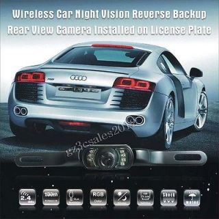 Wireless Night Vision Car Reverse Backup Rear View Camera Monitor GPS