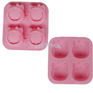 Hello Kitty Shaped Cup Cake Chocolate Muffin Baking Mold Mould New