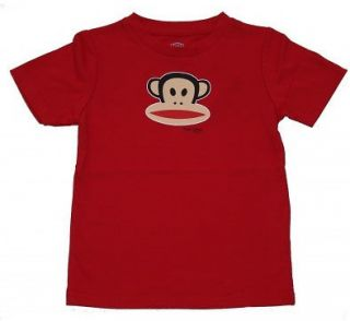 PAUL FRANK HEY JULIUS BABY BOYS KIDS RED SS TEE SHIRT 12 or 24 MONTHS