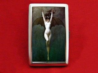 BAT LADY VINTAGE PIN UP GIRL ART CIGARETTE ID IPOD CASE
