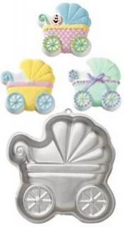 Wilton Baby Buggy Pram Stroller Shaped Novelty Shower Party Cake Pan