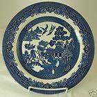 CHURCHILL BLUE WILLOW CHINA DINNER PLATE ENGLAND