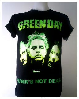 Green Day American punk rock band Black T Shirt Size S XL