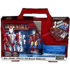Mega Bloks Ironman 2 Tri Armor Iron Man & Suitcase Toy