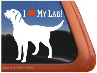 LOVE MY LAB Labrador Retriever Dog Window Decal Sticker