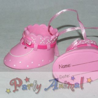 Cake Decorations Claydough *Pair Baby Booties PINK*Cake Toppers