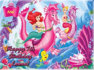 ARIEL PRINCESS Edible CAKE Icing Image Topper Birthday