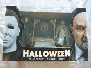 Halloween Michael Myers Dr. Loomis Figure Set The Night He Came Home