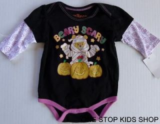 CARE BEARS Girls 0 3 6 Months HALLOWEEN Shirt Onesie Tee Top Pumpkin