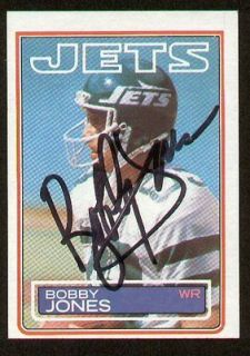 Bobby Jones signed autograph auto 1983 Topps Football Trading card