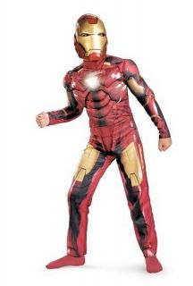 Child Iron Man 2 Mark VI Light Up Deluxe Costume D11691
