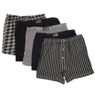 Mens Button Fly Jersey Boxer Shorts Natural Cotton Rich Boxers