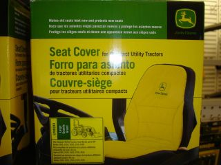 JOHN DEERE NEW LARGE SEAT COVER FOR COMPACT UTILITY TRACTOR W/18