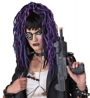 Apocalypse Dreadlock Dreads Steampunk Costume WIG Purple Black Womens