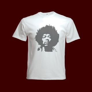 HENDRIX T SHIRT jimi guitar stratocaster fender led zeppelin cream