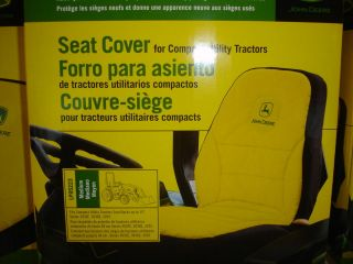 JOHN DEERE NEW MEDIUM SEAT COVER FOR COMPACT UTILITY TRACTOR W/15