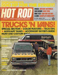 Hot Rod 1974 Aug truck van gmc anglia can am street car