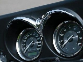 KURYAKYN CHROME SPEEDO TACH BROW FOR HARLEY DAVIDSON TOURING MODELS