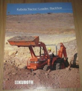 Kubota Tractor Loader Backhoe Sales Brochure