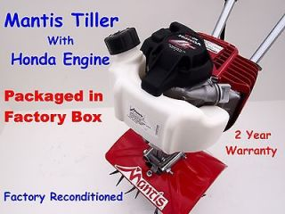 Mantis Tiller with Honda Engine, Model 7262 . In Factory Box