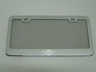 MINI COOPER *LOGO* BLACK Metal License Plate Frame (Fits More than