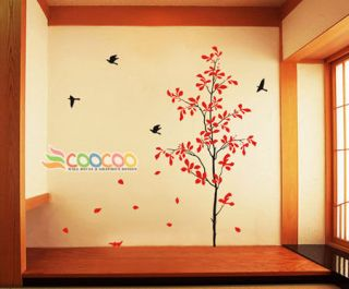 Wall Decor Decal Sticker Removable large sigle tree 66