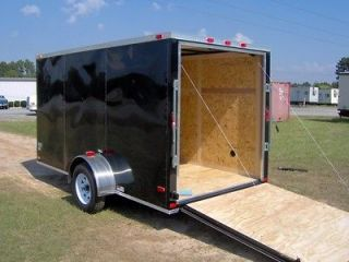 6x12 enclosed ATV cargo motorcycle trailer black NEW