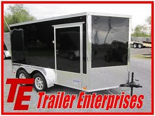NEW 12 UNITED 7 X 12 V NOSE ENCLOSED MOTORCYCLE TRAILER