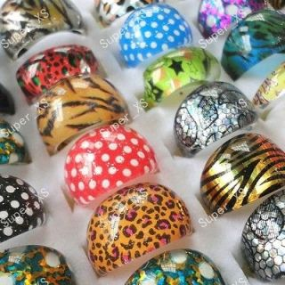 jewelry mixed lots 25pcs children lovely resin rings