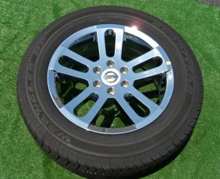 Set NEW Genuine Nissan Titan OEM Factory CHROME 20 inch WHEELS TIRES
