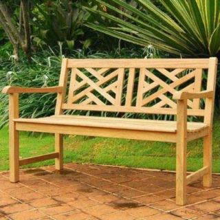 48 Teak Wood Park Bench Seat Outdoor Patio Deck Furniture Seating