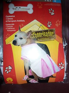 NEW Football CHEERLEADER SPORTS Dress Pet Dog Costume S 5 – 15 lbs