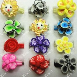 New wholesale jewelry mixed lots 30pcs children Polymer clay rings