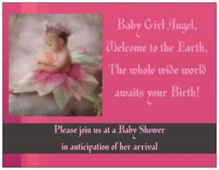 20 Baby GIRL Shower INVITATIONS Post Cards POSTCARDS